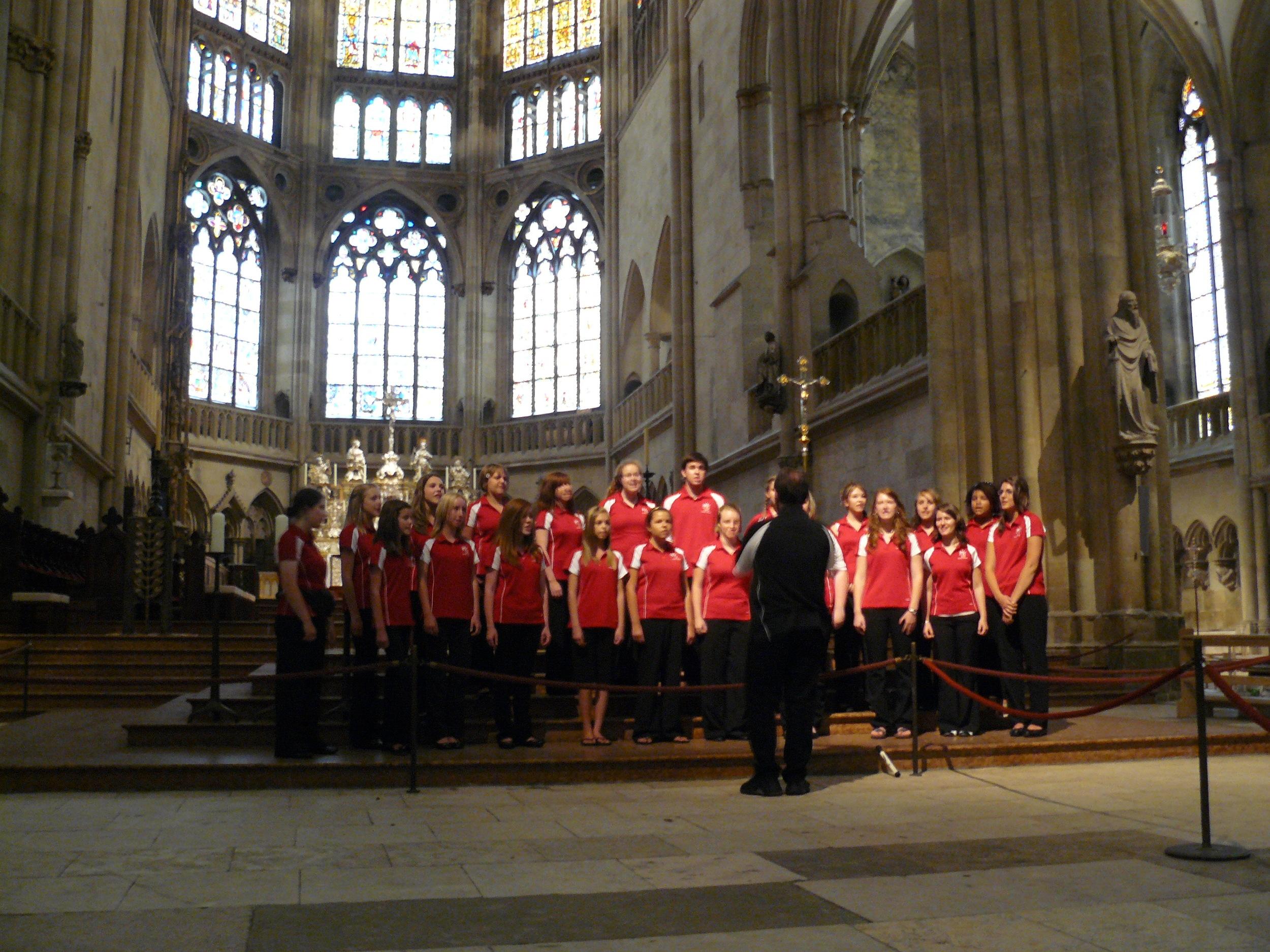 Singing in Regensberg Cathedral.