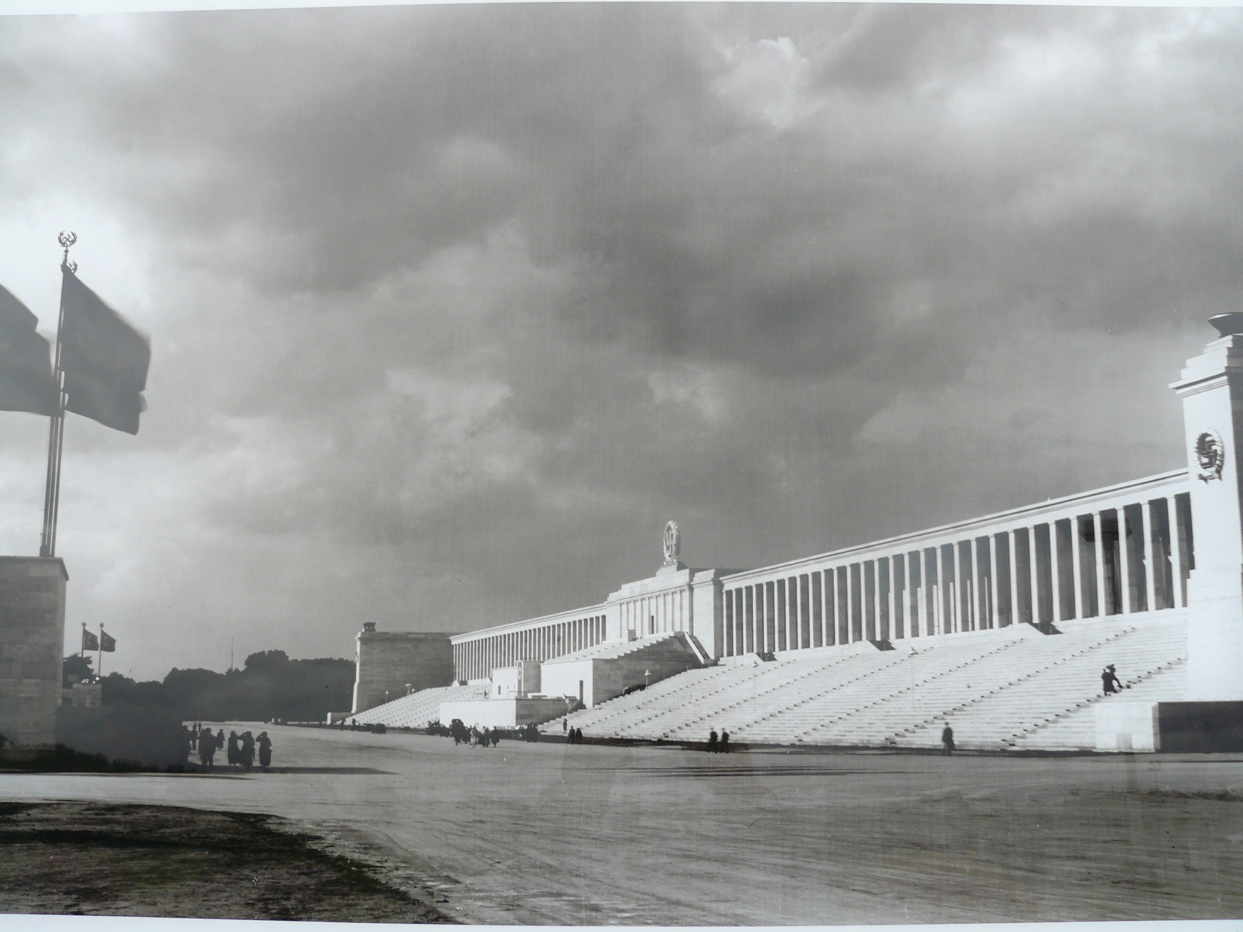 1940's picture of the Zeppelinfeld (Zeppelin Field) in Nürnberg where the Nazi's held their rallies.