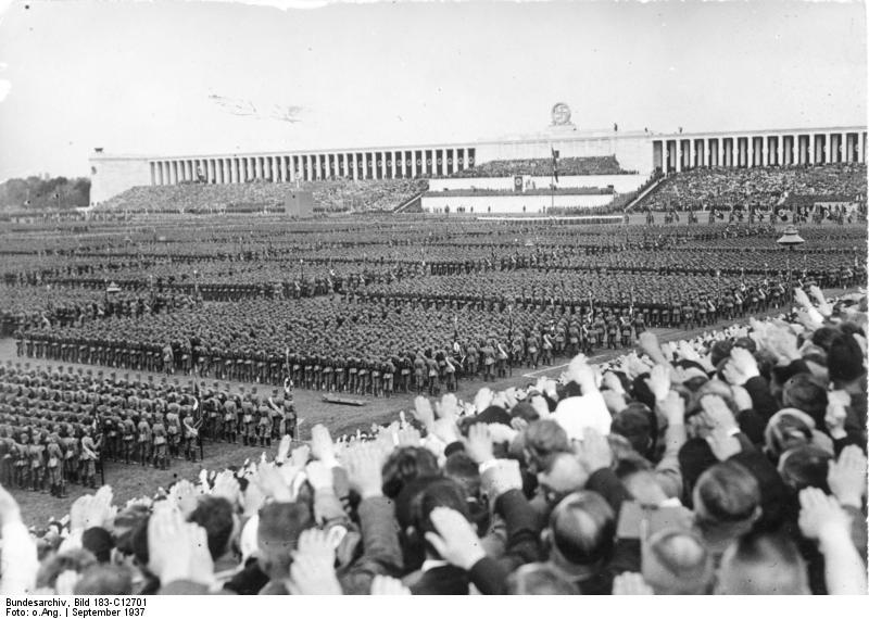 One of the  Nürnberg  rallies at Zeppelinfelt.