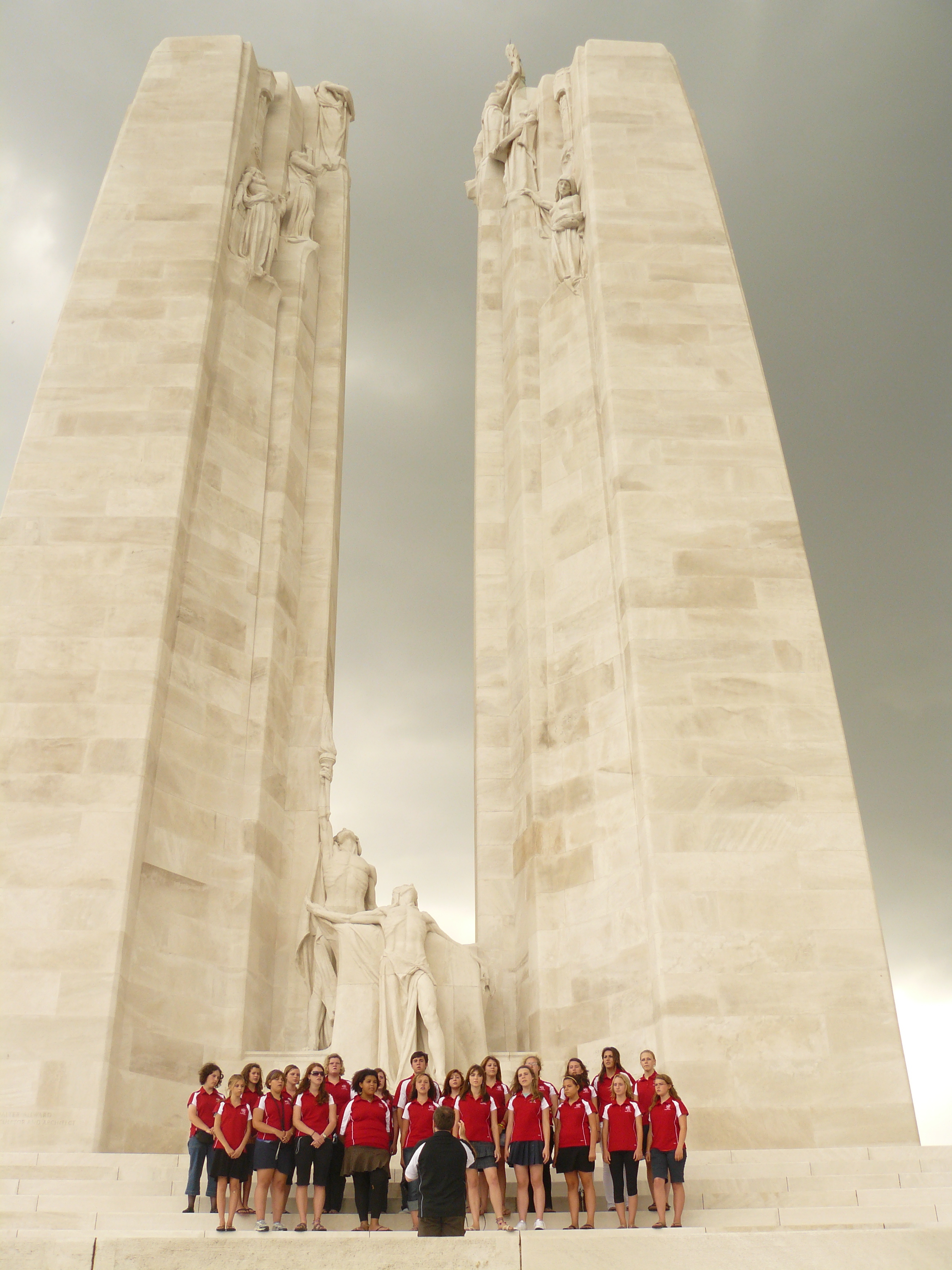 Performing at Vimy Ridge. One of the most moving days of the tour.
