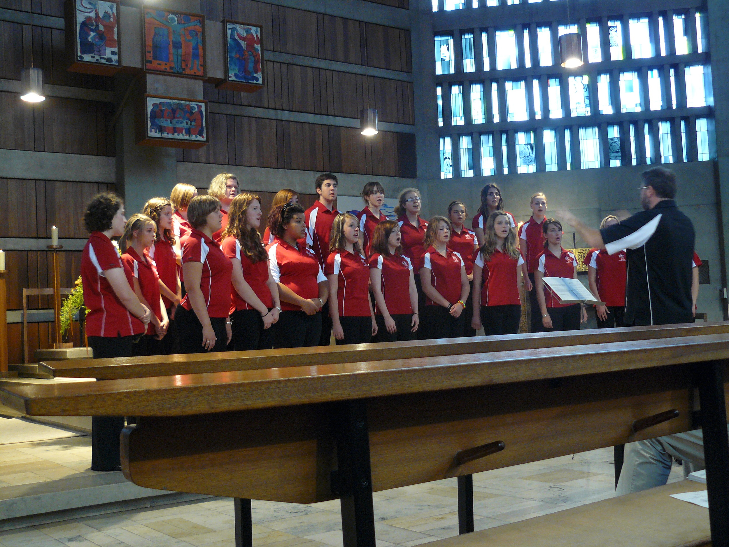 Performance at Christkonnigkirche (Christ the King Church) in Ansbach.