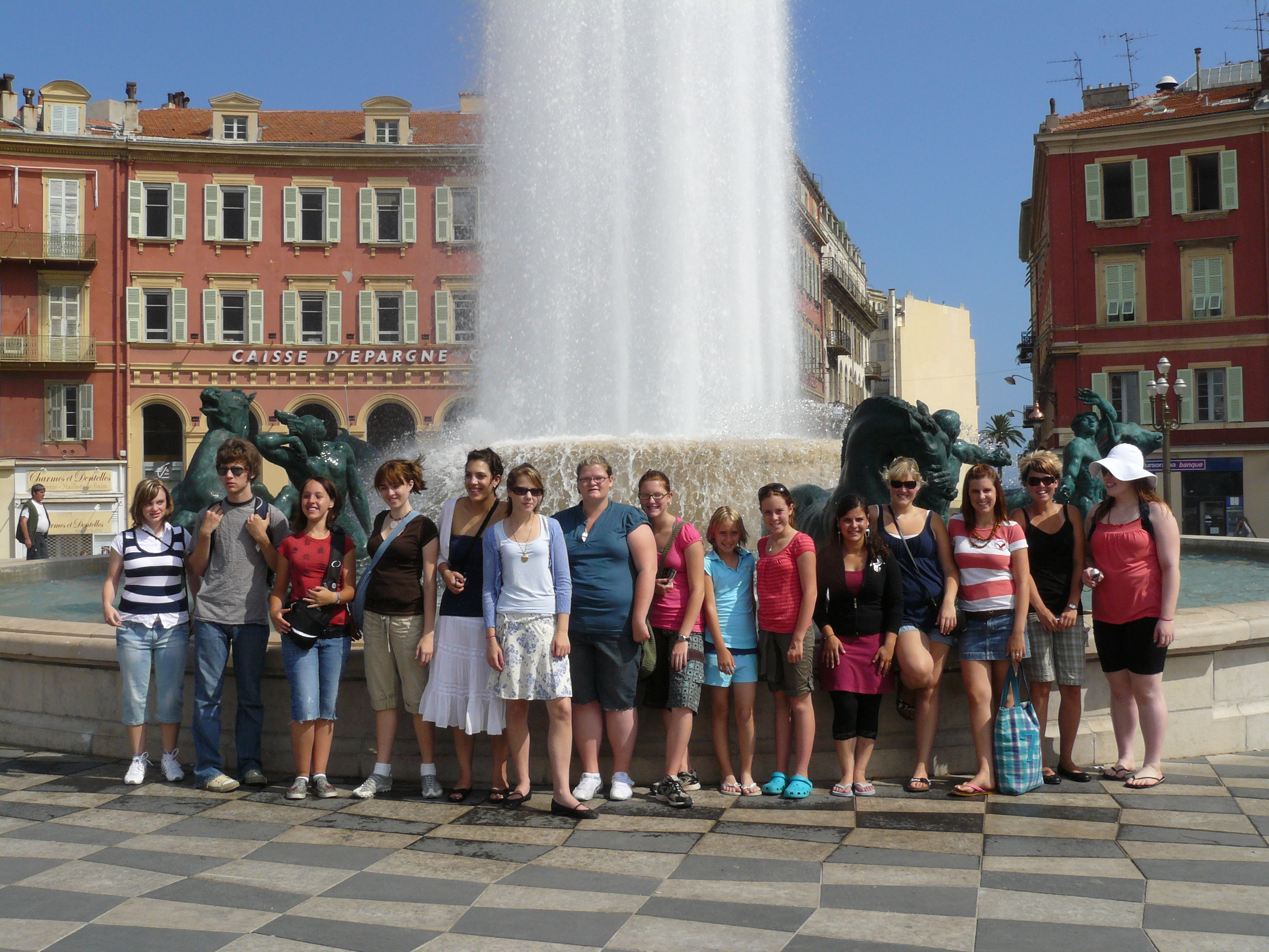 Touring the city of Nice, on the Mediterranean coast.