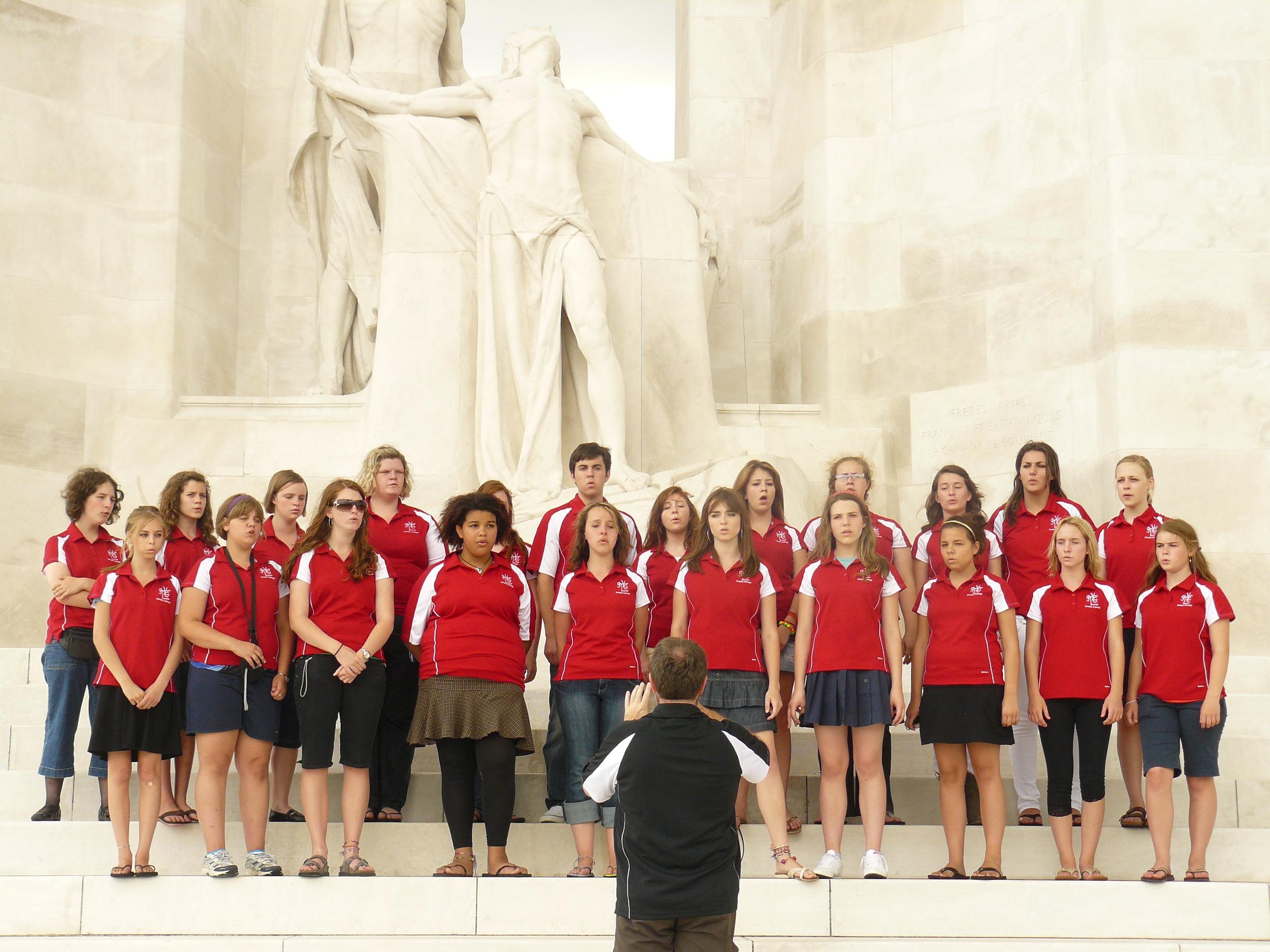 Singing at Vimy Ridge