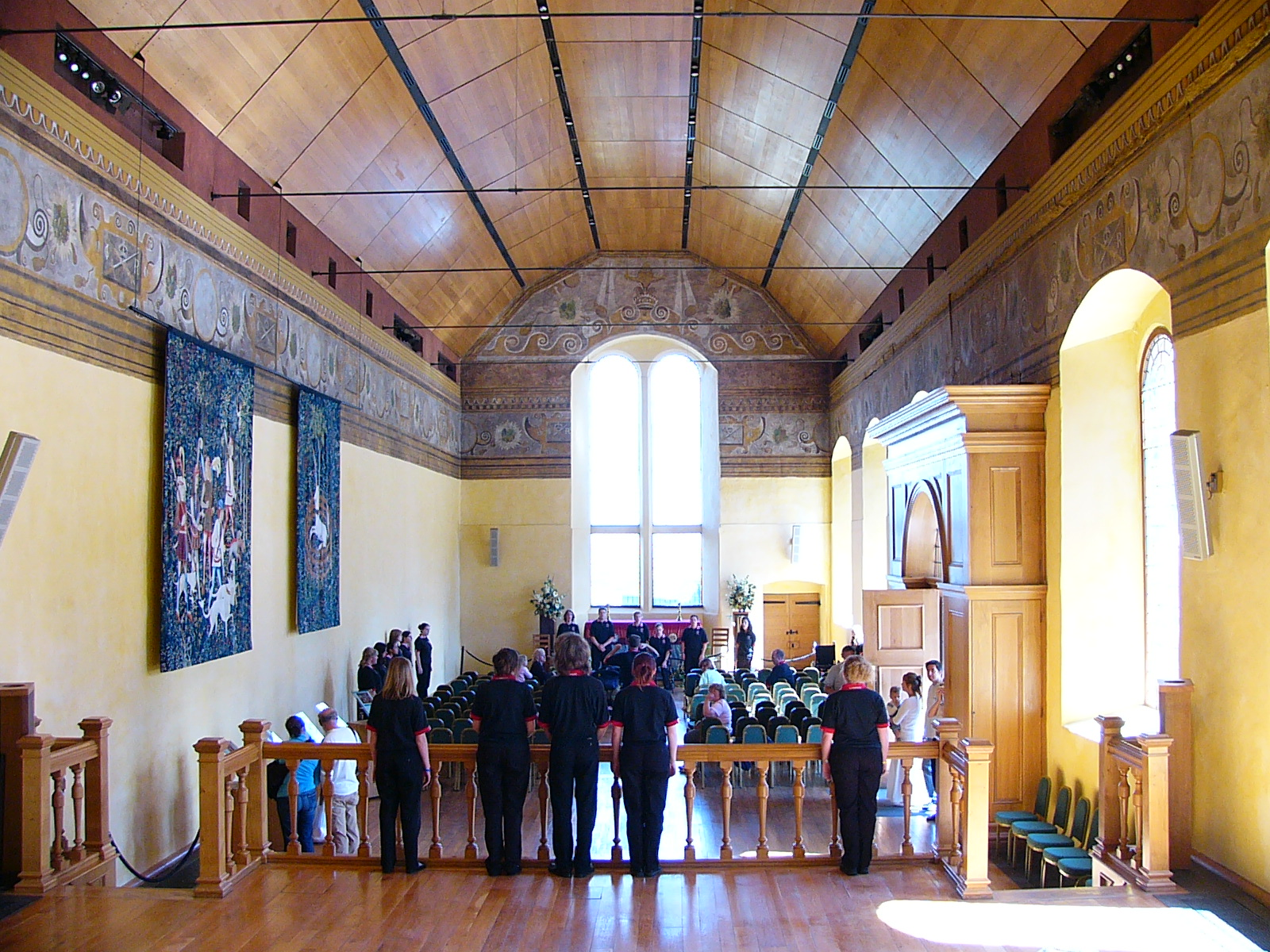 Our rehearsal in the chappel at Stirling Castle.