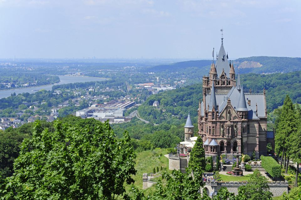 Visiting Drachenburg Castle.