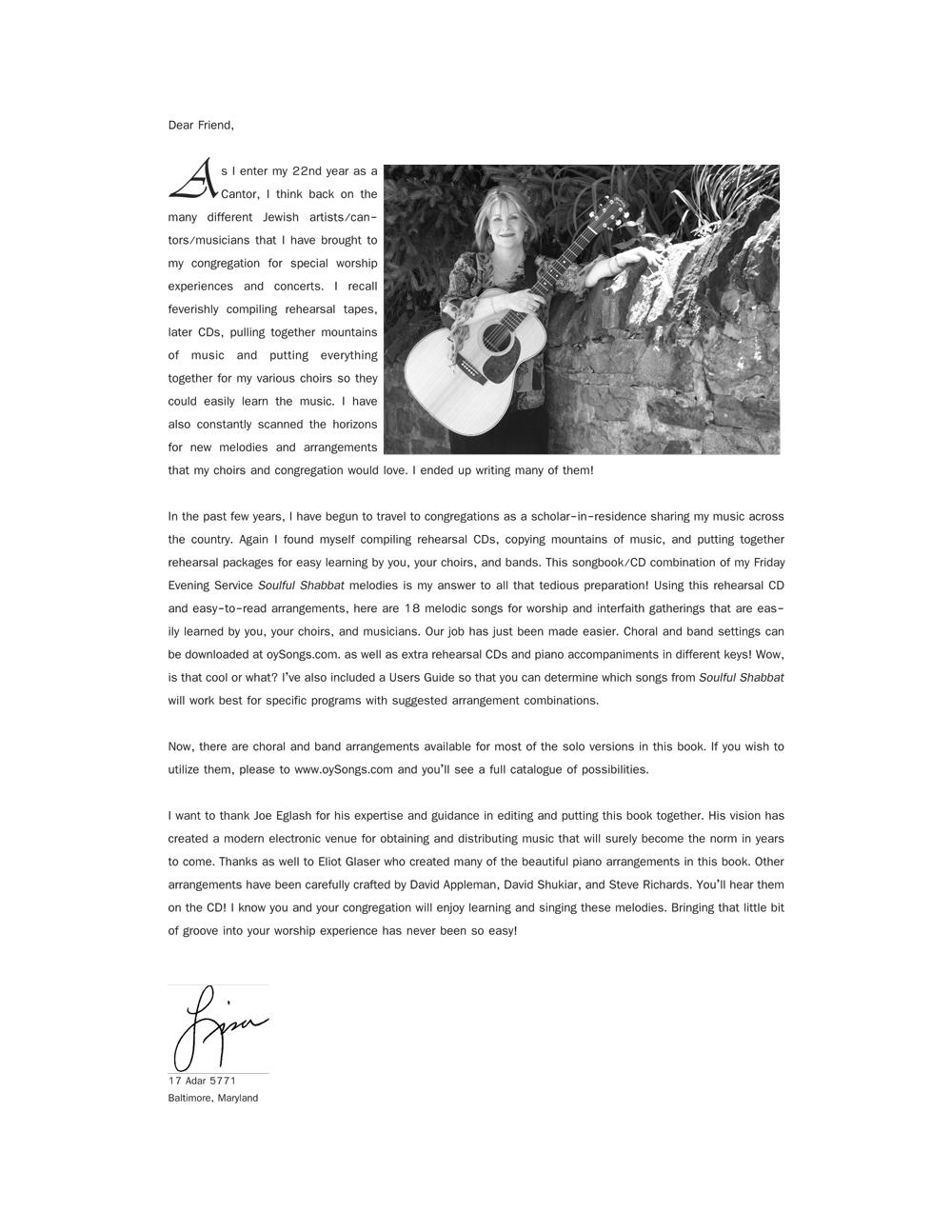 Soulful Shabbat Songbook (Lisa Levine)