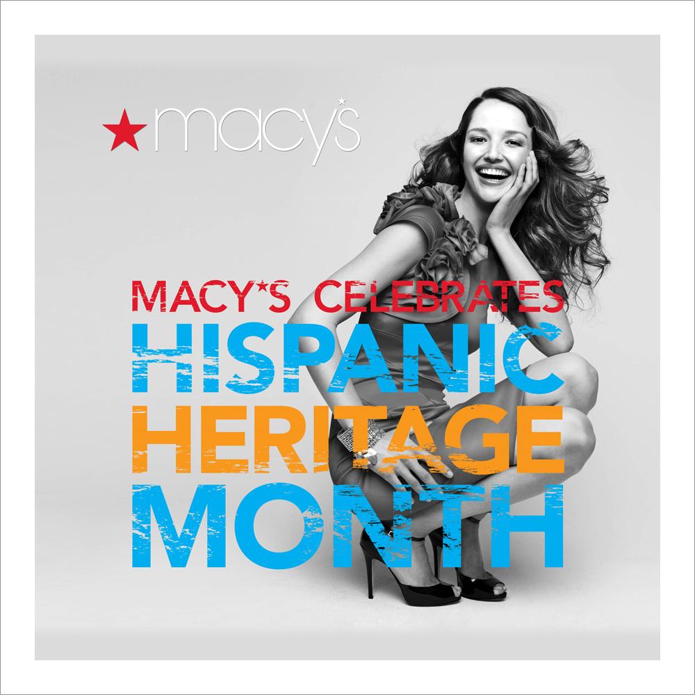 """Macy's Heritage Month  120"""" x 120""""' Vinyl Banner"""