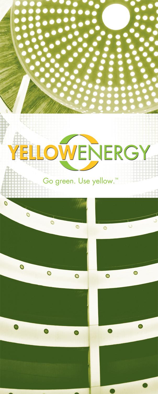 """Yellow Energy  33"""" x 79.25"""" Bannerstand"""