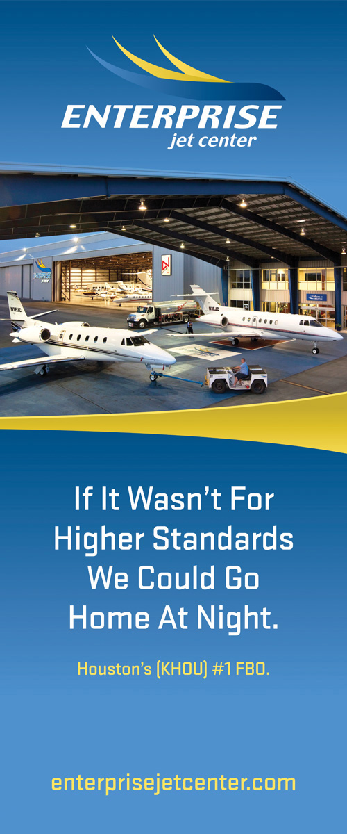 """Enterprise Jet Center  33"""" x 79.25"""" Bannerstand"""