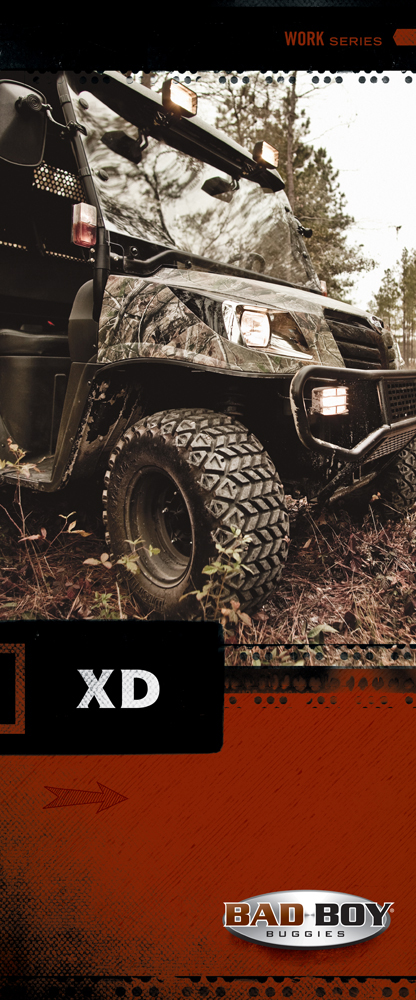 "Bad Boy Buggies  33"" x 79.25"" Bannerstand"