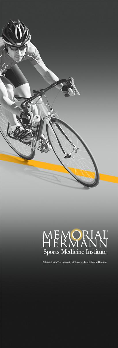 """Memorial Hermann Ironman  33"""" x 79.25"""" Bannerstand"""