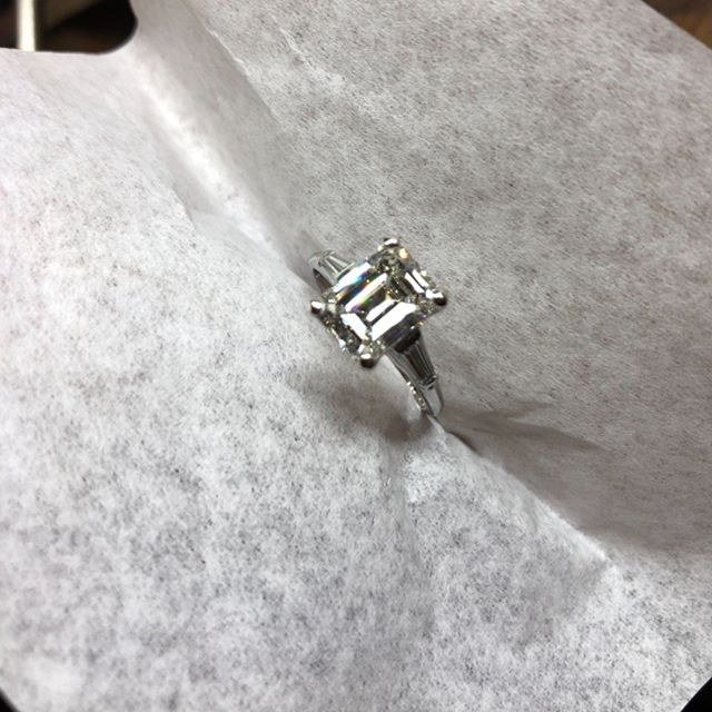 Niiice 2ct emerald cut Diamond. This one is still available. DM me for prices.