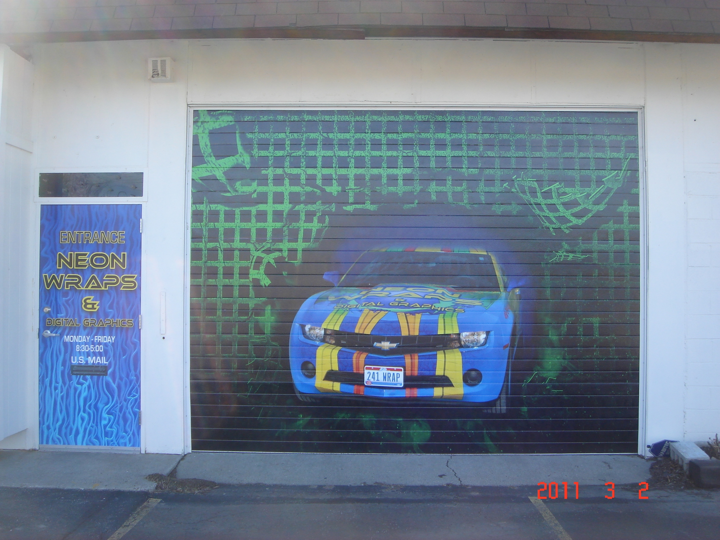 Digital Print Wrap on Garage Door