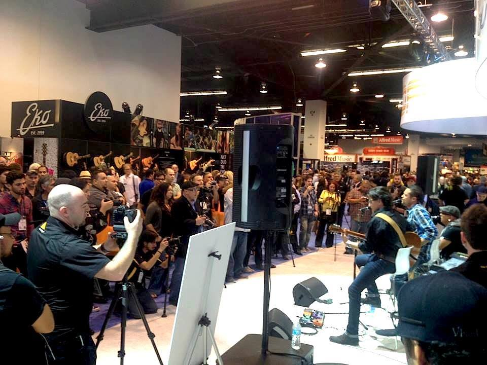 NAMM Show performing with Andy Vargas