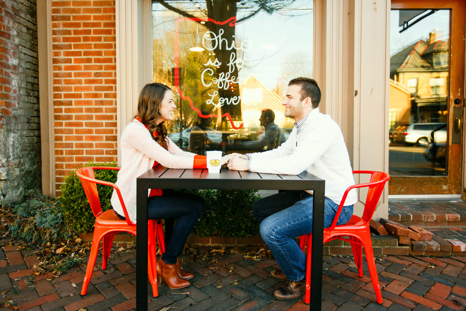 Stauf's German Village Engagement Shoot Columbus Ohio St Louis Wedding Photographer Oldani Photography