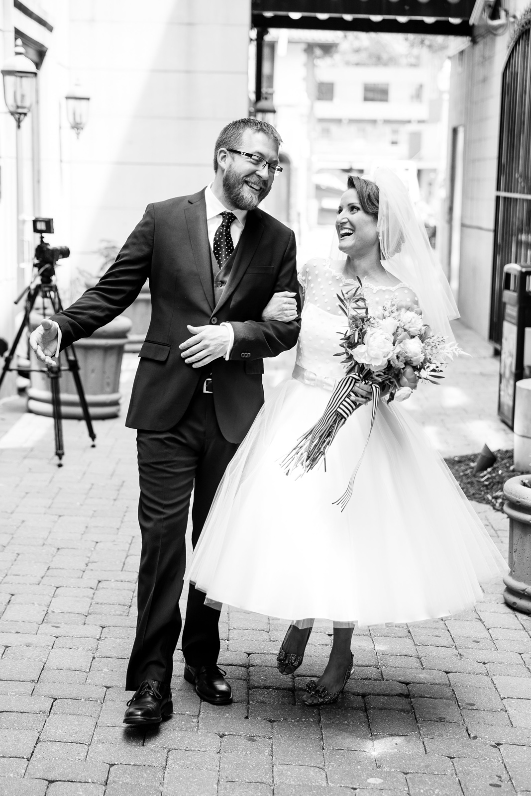 Bride and Groom in Central West End CWE