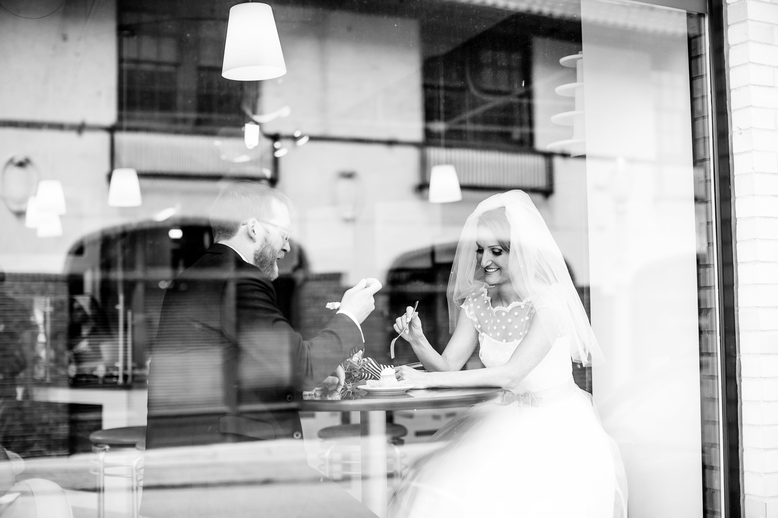 Bride and Groom at The Cup in Central West End CWE