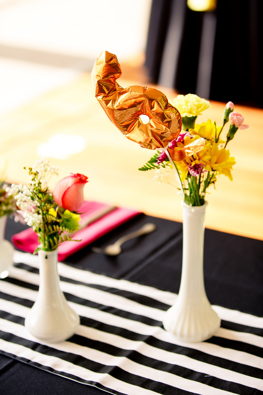Breakfast for Dinner themed reception at The Culver Pavilion in St. Louis Forest Park by Oldani Photography