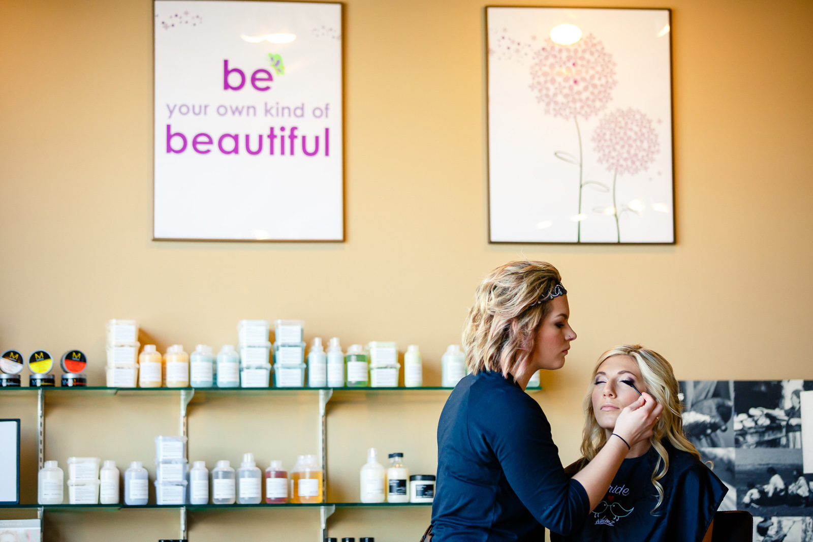 Millstadt Bride at Salon Whimz Bridal Party Photos with St. Louis Wedding Photographers by Oldani Photography 2.jpg