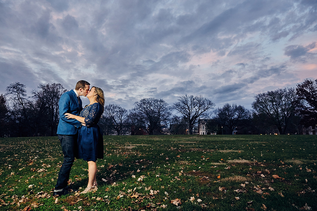 Downtown Washington Avenue Lafayette Square Planters House Engagement Session by St Louis Wedding Photographers Oldani Photography