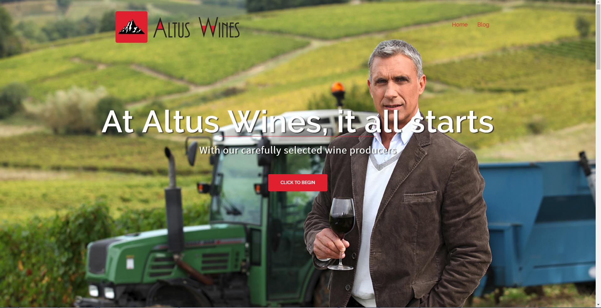 ALTUS WINES WEBSITE DESIGN + INTEGRATION