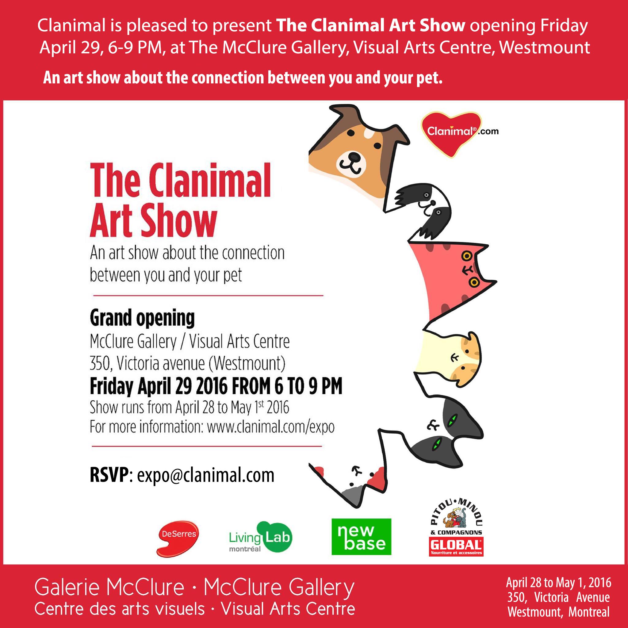 CLANIMAL ART SHOW SOCIAL MEDIA CAMPAIGN