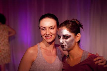 Choreographer Courtney Peix (l) and Magdalena Gyftopolous