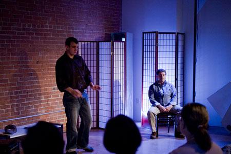 """Sightlines""  Allen Phelps (l) as David; Jason Tamborini as Sonny"
