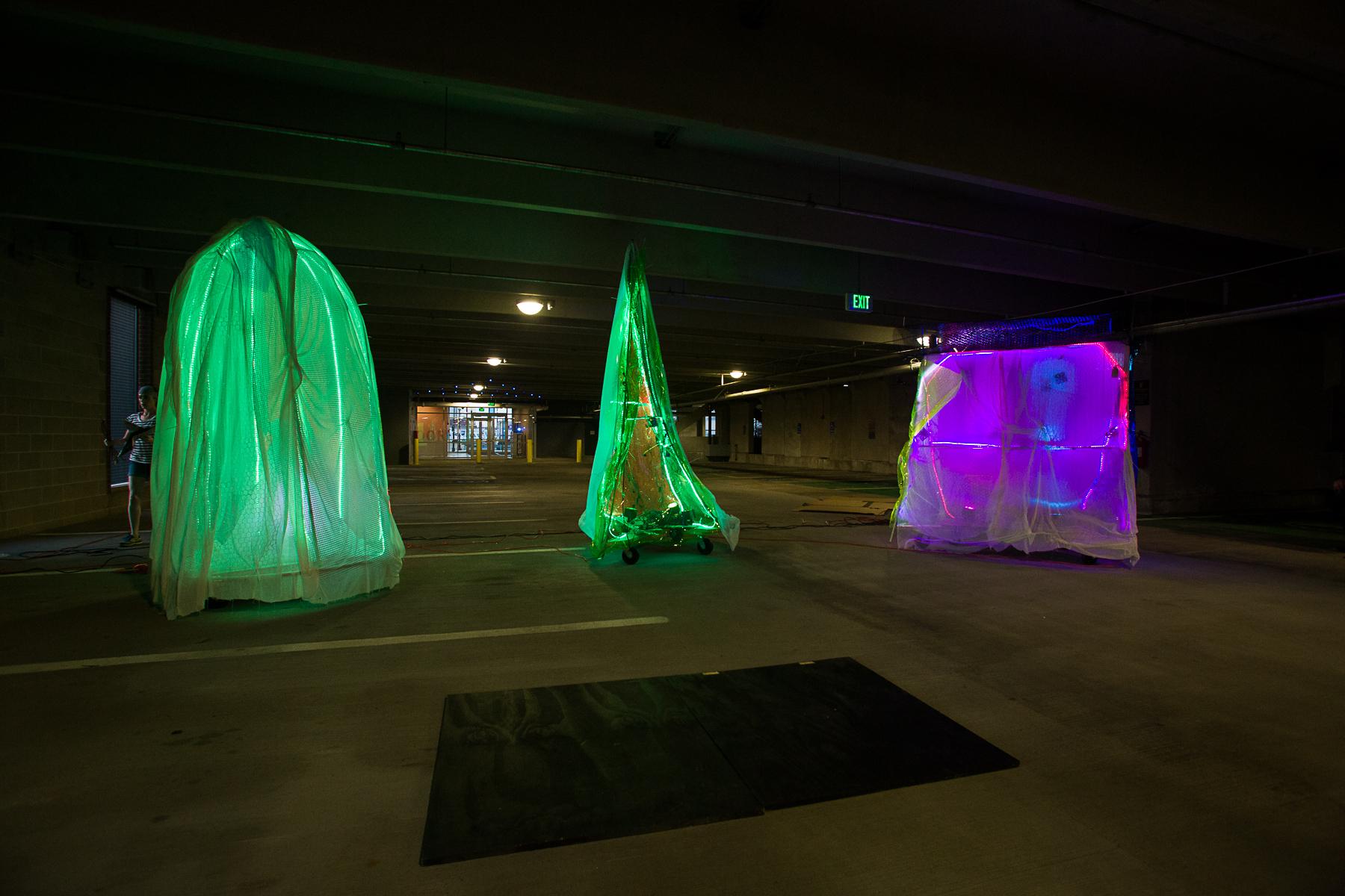 Rick Dorff's installation in its Channel Center Garage location