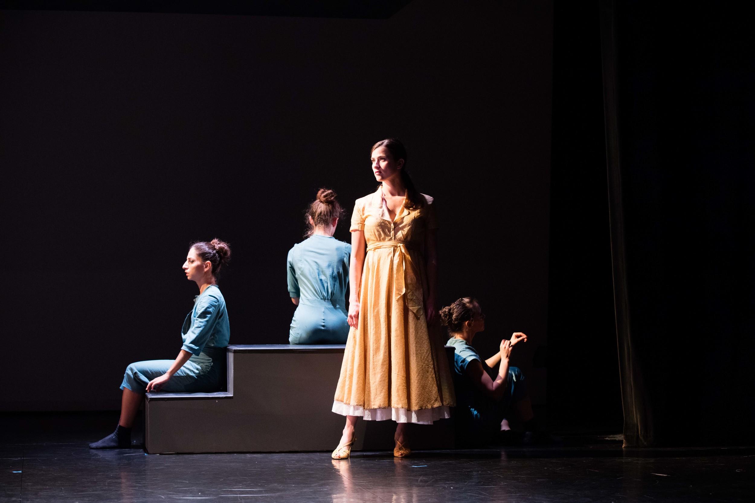 From the left: Magdalena Gyftopoulos, Nina Brindamour, Anna Ward, and Danielle Davidson/photo by Daniel J. van Ackere