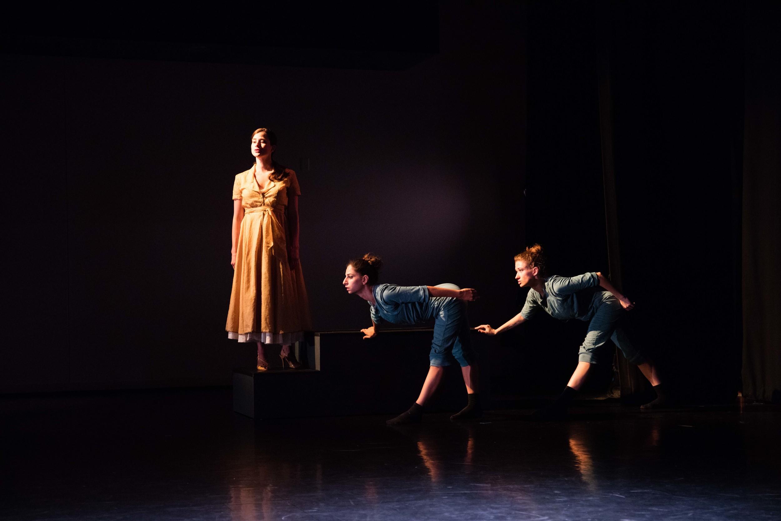 From the left: Anna Ward, Magdalena Gyftopoulos, and Nina Brindamour/photo by Daniel J. van Ackere