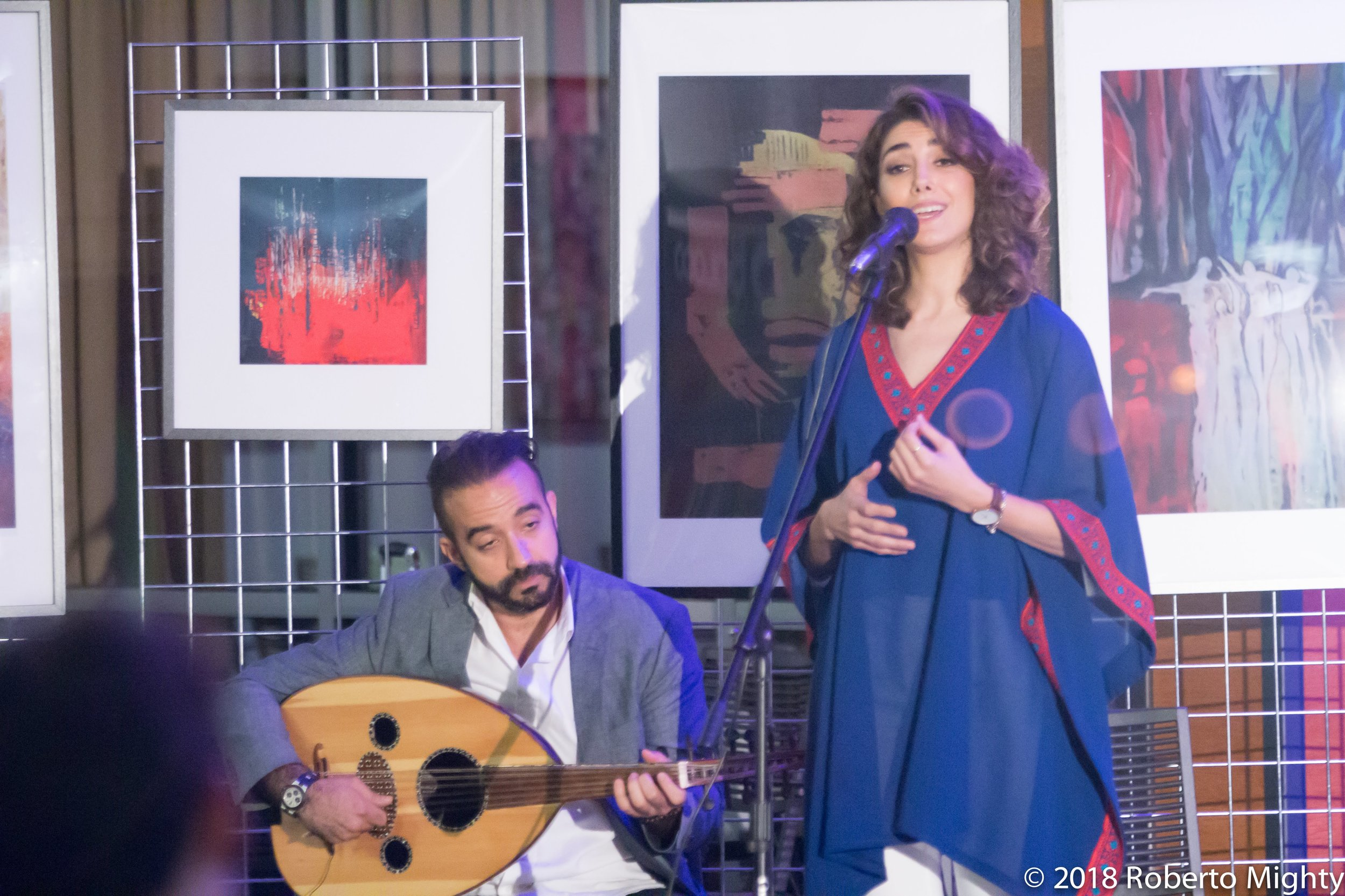 Oud player Mohamed Salah and singer Nano Raies