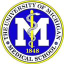 UM Medical School seal with rod of Asclepius