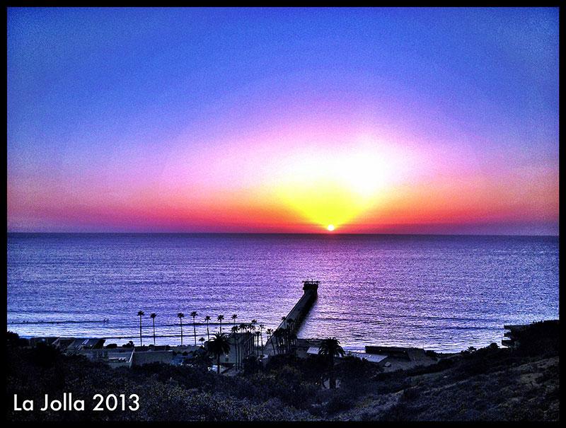 Photo: stunning La Jolla sunset