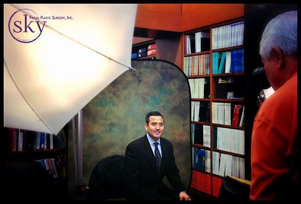 Photo: Dr. Yoo being photographed for the Scripps Memorial Hospital La Jolla physician directory.