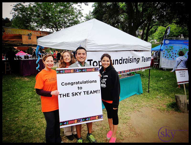 Photo: The SKY Team won the team fundraising challenge and had a private tent at the Finish Expo.