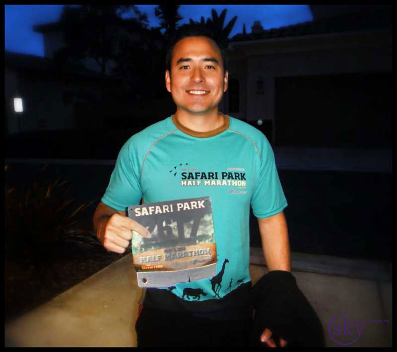 Photo: Dr. Yoo getting ready for the San Diego Safari Park Half Marathon 2013