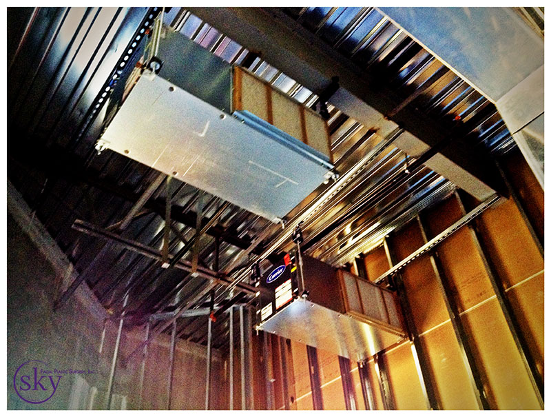 PHOTO: HVAC units are up.