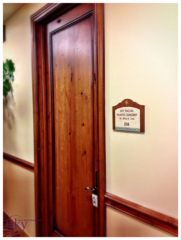 PHOTO: The sign is up next to our entry door!