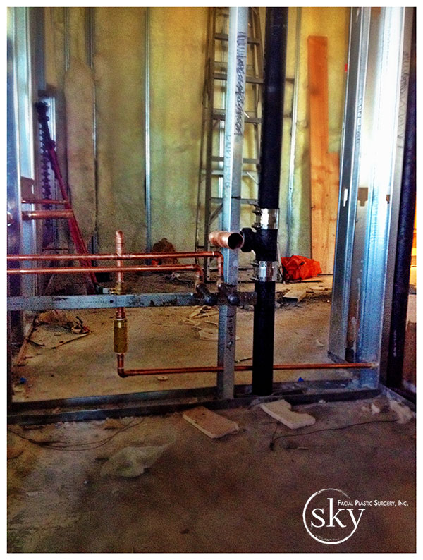 PHOTO: The plumbing pipes.