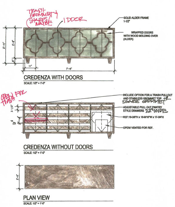 PHOTO: Concept drawing of credenza for consultation rooms.