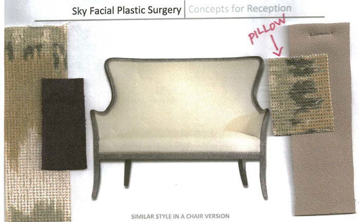 PHOTO: Concept drawing of reception chair by Kelly Hinchman
