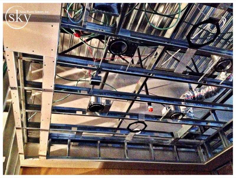 PHOTO: Canned light frames are installed.