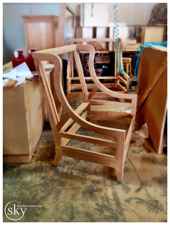 PHOTO: The frame of the settee.