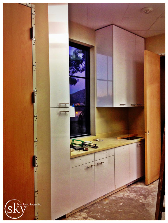 PHOTO: Cabinetry in the sterilization room