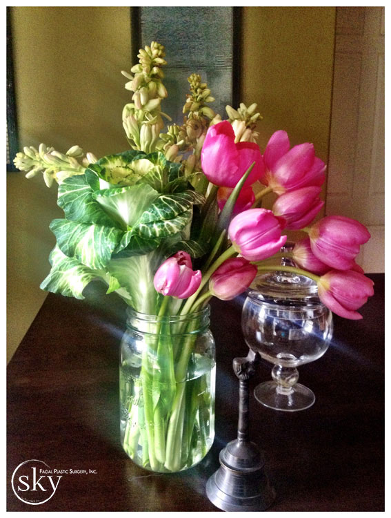 PHOTO: Gorgeous bouquet of flowers sitting on a table.