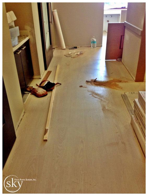 PHOTO: Wood floor in hallway.