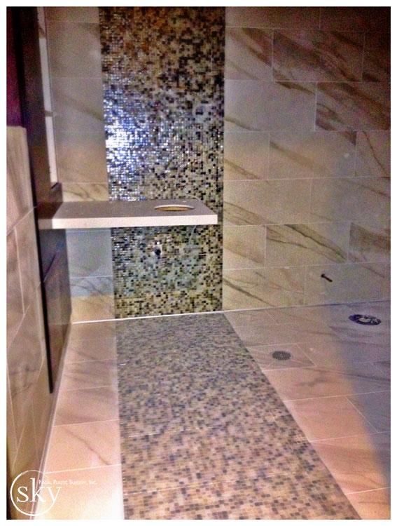 PHOTO: Tile in bathroom.