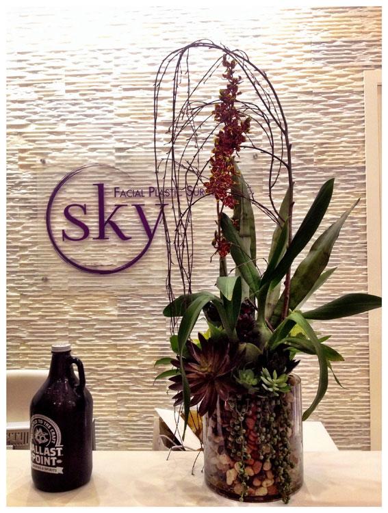 PHOTO: Flower arrangement.