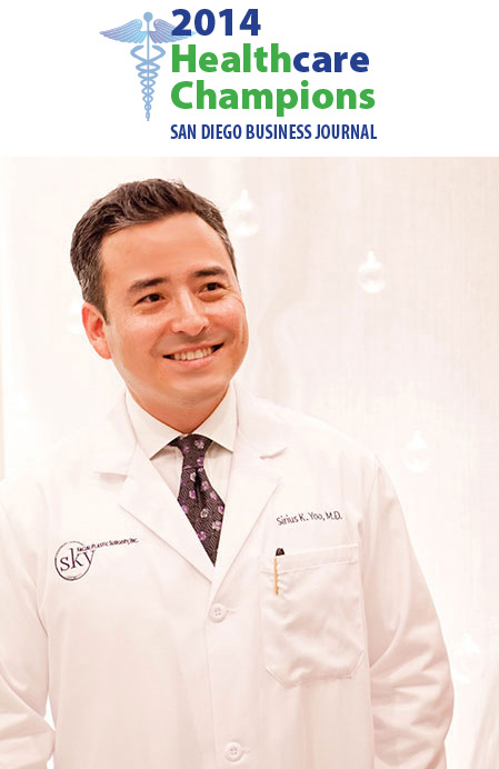 Dr. Sirius K. Yoo, finalist for 2014 Healthcare Champions award